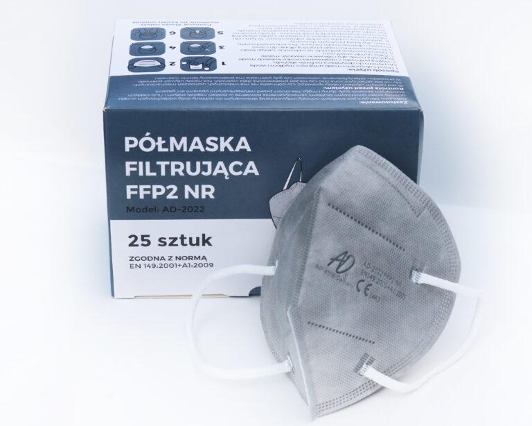 Maska FFP2 szara